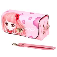 绍泽文化 BD-22112简约可爱大容量帆布笔袋-甜心女孩 儿童学生铅笔袋/文具盒 粉色 当当自营
