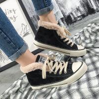 2018高帮加绒鞋子女冬季韩国绒面ins超火保暖女式新款棉鞋女