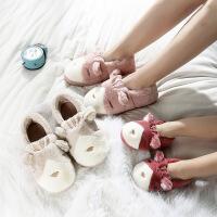 儿童棉拖鞋男女童防滑秋冬季2-3-4-5岁包跟保暖软底小孩厚底
