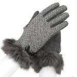 新款潮流韩版蕾丝口女款保暖手套  女时尚手套