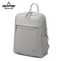 博牌�p肩包女14寸��X包2020新款�n版百搭大容量��包休�e��X背包