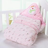 春秋季棉婴儿抱被抱毯宝宝用品襁褓包巾包被秋冬款可脱胆