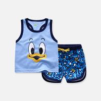 宝宝夏季儿童纯棉背心套装图案休闲薄款两件套