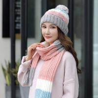 帽子女冬天保暖护耳围脖两件套毛线帽女潮韩国百搭围巾套装针织帽