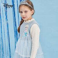 【抢购价:98元】迪士尼春装女童背心裙冰雪奇缘爱莎公主A字裙洋气中小童