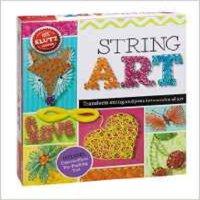 现货 英文原版STRING ART 英文原版玩具书 手工制作礼盒 Klutz String Art 创意手工艺术 DI