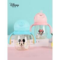 迪士尼儿童学饮杯婴儿防漏防呛奶瓶大宝宝水杯可爱ppsu吸管杯子134697