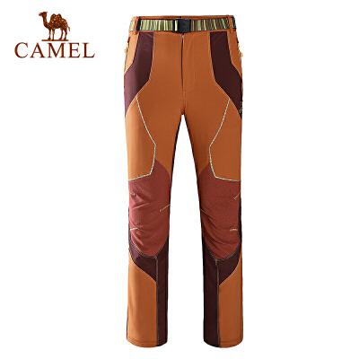 camel骆驼户外男款速干长裤 户外休闲速干透气速干裤