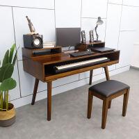 实木琴桌电钢琴桌子录音棚工作台音乐工作桌编曲工作台调音台桌子ll 组装