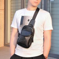 男士胸包韩版包包休闲日韩男包单肩包斜挎包青年小包PU皮背包