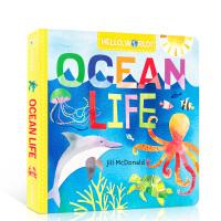 【全店300减80】英文原版进口 ocean life 海洋生命 Hello, World! 你好,世界系列 儿童启蒙早