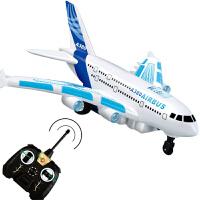 可充电仿真A380客机航空模型4567岁宝宝儿童遥控飞机玩具耐摔电动 (地上跑的飞机) 标配