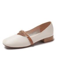 2019春季新款复古奶奶鞋粗跟玛丽珍鞋女浅口小皮鞋中跟单鞋子