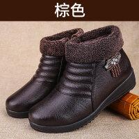 妈妈棉鞋加绒保暖中老年奶奶皮鞋滑老北京布鞋女棉靴