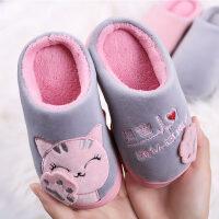 儿童棉拖鞋秋冬季男女童厚底滑棉拖鞋可爱宝宝室内保暖棉鞋