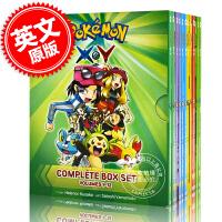 现货 皮卡丘神奇宝贝宠物小精灵1-12全套套装 英文原版 Pokémon X-Y Complete Box Set: