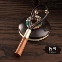 铜木坠钥匙链挂件情侣钥匙扣创意汽车钥匙圈环绳男士女士韩国可爱