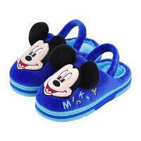 儿童室内防滑秋冬米奇宝宝棉拖鞋男童1-3岁2婴幼儿女童