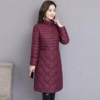 羽绒服轻薄女中长款反季2019新款冬季中年女士外套韩版服
