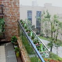 阳台花架挂式 阳台不锈钢栏杆花架壁挂栏杆悬挂花架铁艺阳台护栏挂式多肉花架