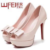 王菲儿 新款韩版鱼嘴高跟鞋防水台单鞋高跟时尚女鞋 911