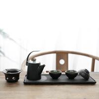 简约家用功夫茶具 整套陶瓷茶壶茶杯办公干泡茶盘套装