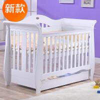 欧式婴儿床实木多功能宝宝床可变床童床环保漆BB床