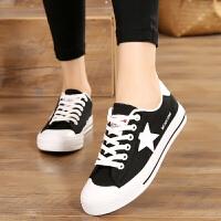 初中生帆布鞋女板鞋白鞋平底中小学生大童运动白色球鞋跑步鞋