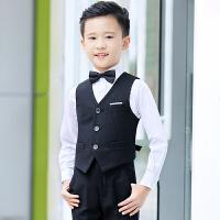 男孩钢琴演出服男童表演童装夏儿童礼服男英伦小西装套装花童马甲