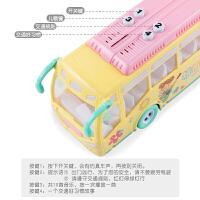 儿童男孩大号校车带故事灯光音乐宝宝玩具惯性汽车巴士车女孩声光