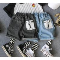 儿童贴布牛仔短裤夏男童中裤小孩子热裤