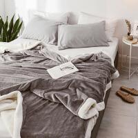 冬季仿羊羔绒毛毯被子双层加厚保暖珊瑚绒毯子法兰绒床单双人小毛毯k