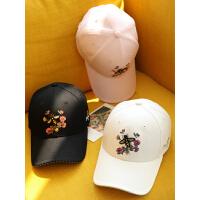 帽子女春夏韩版小清新棒球帽时尚潮流鸭舌帽优雅刺绣运动帽