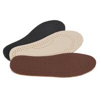 3双装~高档头层真皮牛皮皮鞋儿童鞋垫运动柔软吸汗除臭加厚男女士