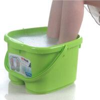 塑料足浴桶 洗脚盆 洗脚桶足浴盆带提手洗脚桶按摩泡脚桶足浴桶足疗桶颜色随机