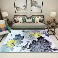 简约新中式地毯中国风茶几垫现代沙发卧室书房家用客厅地毯可机洗y