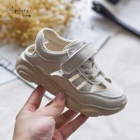 女童运动鞋儿童镂空网鞋软底透气宝宝包头凉鞋中大童鞋子