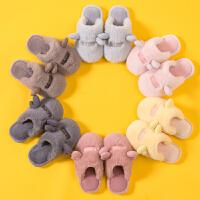 儿童棉拖鞋女童男童宝宝小孩秋冬季防滑可爱保暖亲子毛毛包跟棉鞋