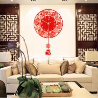 家用中式客厅创意电子挂钟个性摇摆钟表时尚现代卧室静音艺术时钟
