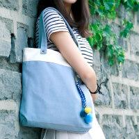 帆布包女单肩韩国文艺手提帆布袋学生韩版简约百搭