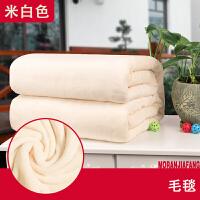 珊瑚绒毯子加厚秋冬用法兰绒毛毯纯色毛床单盖毯宿舍瑜伽毛毯k