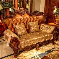 欧式沙发垫防滑皮沙发坐垫四季通用扶手巾布艺美式沙发套T