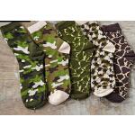 新款韩版时尚迷彩创意男士袜子棉军旅户外运动袜子