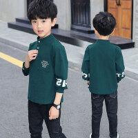 儿童T恤 男童长袖2020新款韩版秋装男孩中大童儿童打底衫中大童洋气POLO衫上衣