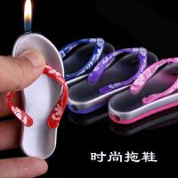 搞笑创意人字拖鞋 模型个性创意造型充气防风打火机 人字拖鞋模型打火机