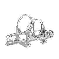 3D立体金属拼图过山车模型手工拼装模型玩具礼物
