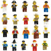 兼容乐高消防员厨师工程师圣诞老人小人幼儿园拼装积木玩具人仔 一套20款 袋装