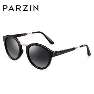 帕森偏光太阳镜 潮女士时尚复古圆框司机驾驶镜墨镜9536