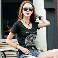 夏季时尚新款韩版修身女士t恤衫休闲圆领短袖女装T恤上衣