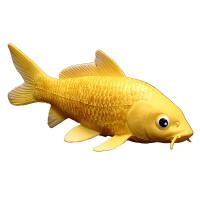 儿童实心仿真海洋生物动物模型玩具摆件 黄金锦鲤 花脊鱼 观赏鱼c